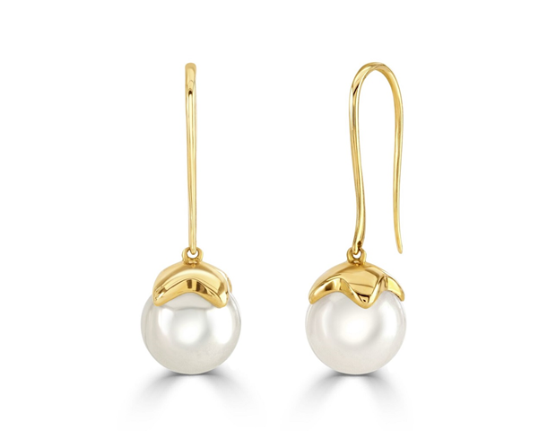 18ct Rose Gold Freshwater Pearl Earrings
