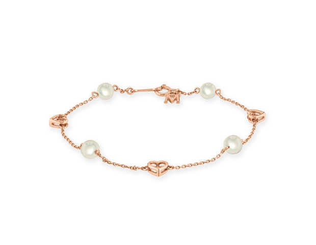 Mikimoto Pearl and Heart Bracelet