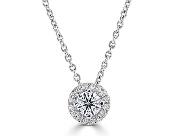 Halo Pendant - Diamond