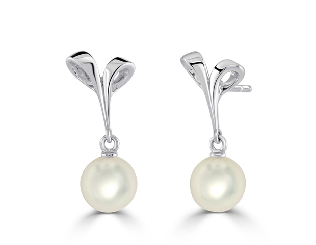 Mikimoto Ribbon Earrings
