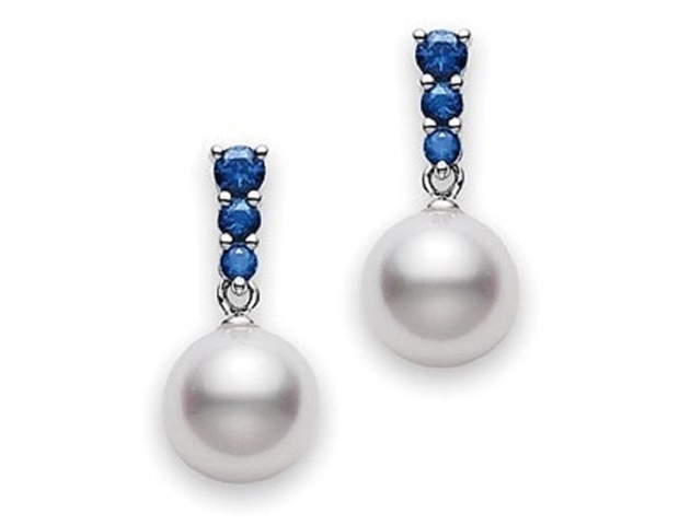 Mikimoto Morning Dew Sapphire Earrings
