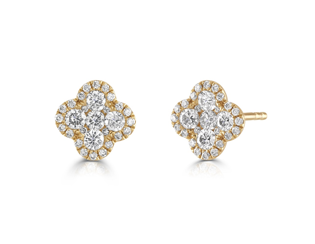 Diamond Quatrefoil Earrings